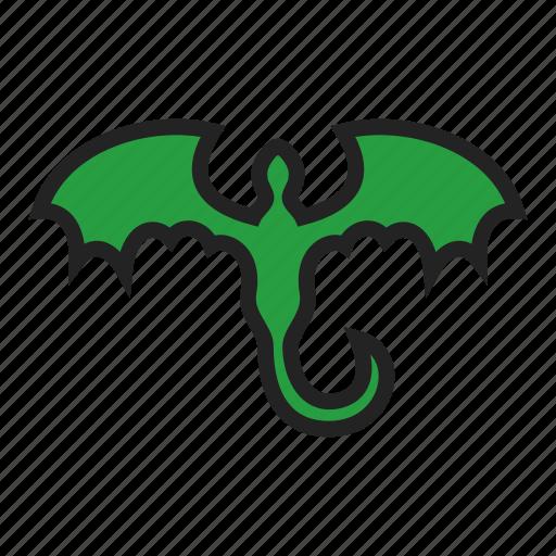 dragon, fantasy, tattoo icon