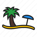 beach, holiday, vacation icon