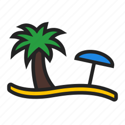 beach, holiday, vacation icon