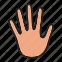 hand, no, stop icon
