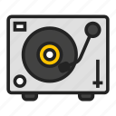 disco, dj, turntable icon