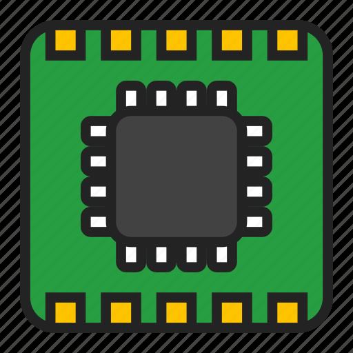 chip, micro, microchip icon