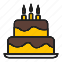 birthday, cake, celebrate icon