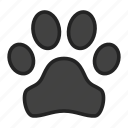 animal, footprint, track icon