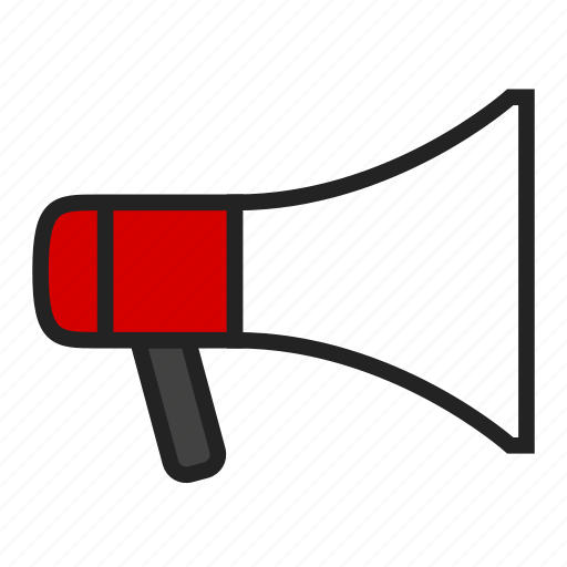 attention, loudspeaker, megaphone icon