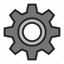 cogwheel, gear, gearwheel icon