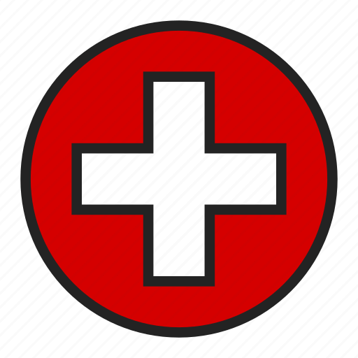 cross, health, medical icon