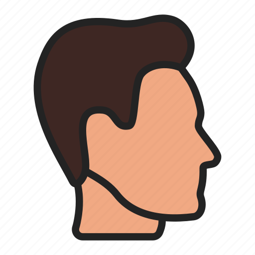head, profile, user icon