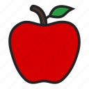 apple, fresh, fruit icon