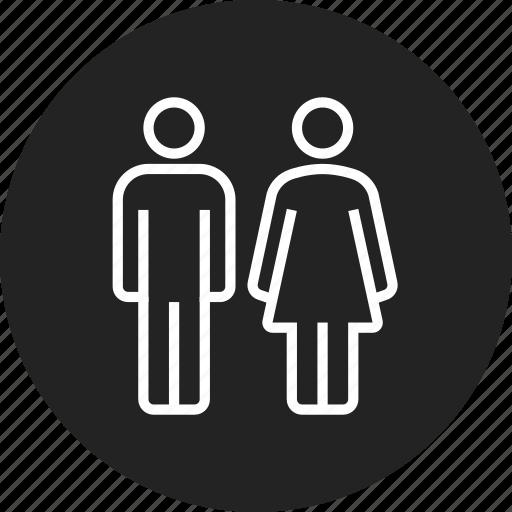 man, people, wc, woman icon