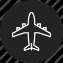aircraft, airplane, plane icon