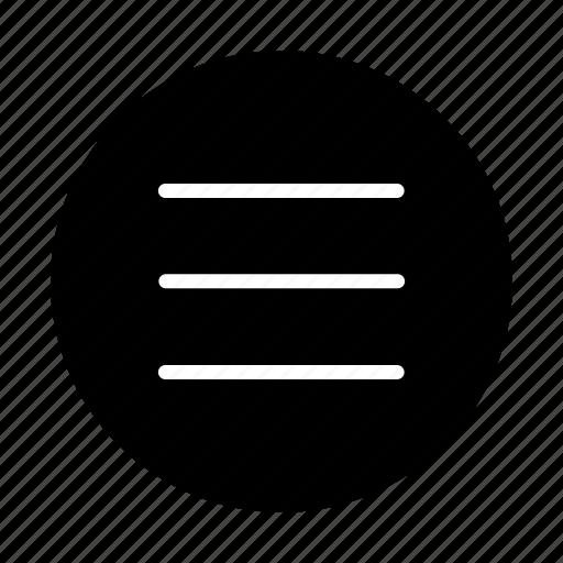 Hamburger, list, menu, navigation icon - Download on Iconfinder
