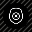 block, security, shield, unacceptable