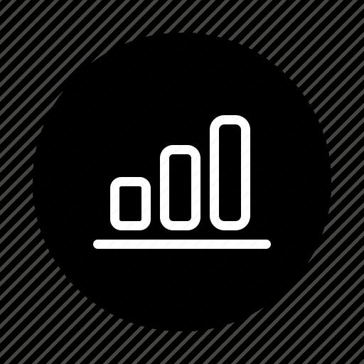 analytics, bar, graph, growth, report icon