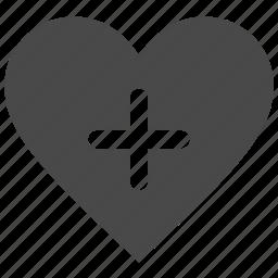 add, heart, like, love, plus icon