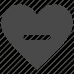 heart, like, love, minus icon