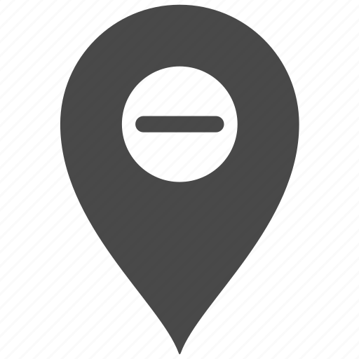 map, marker, minus, pin, place icon