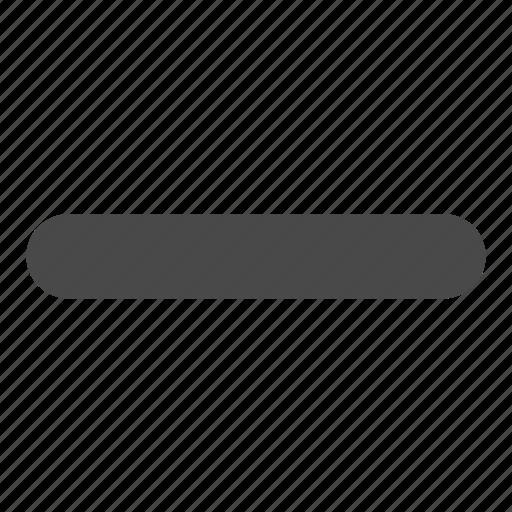 add, delete, minus, remove icon