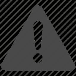 alert, caution, error, warning icon