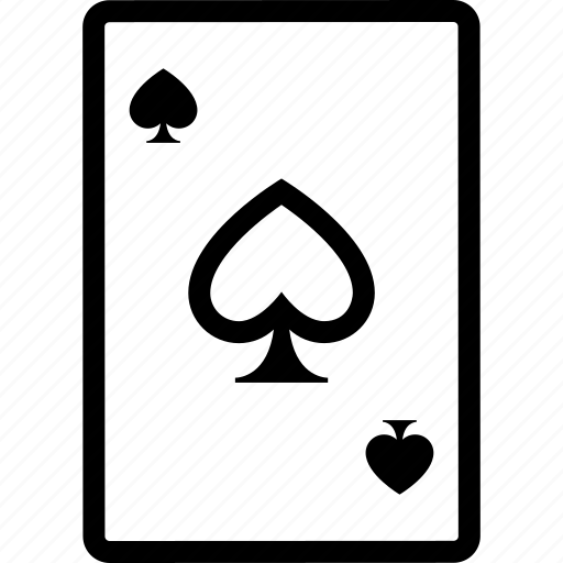 ace, card, of, poker, spades icon