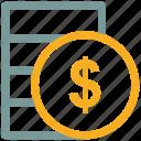 cash, coin, dollar, moneyicon icon
