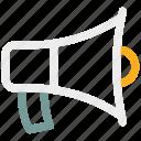 advertising, ⦁ announcement, ⦁ loudspeaker, ⦁ marketing, ⦁ megaphone, ⦁ promotion, ⦁ speakericon icon