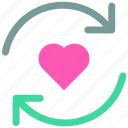 arrow, favorite, heart, icon, like, loading, love icon icon