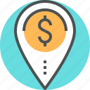 business, finance, financing, financing location, location icon