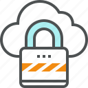 cloud, data, lock, protection, security, storage
