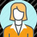 avatar, female, girl, lady, user icon