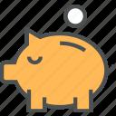 coin, finance, money, piggy, savings icon