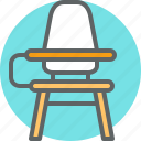 chair, school, student, student desk, table icon
