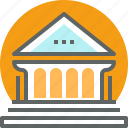 architecture, building, construction, education, learning, school, university icon
