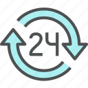 24 hours, anytime, business, open, service, shop icon
