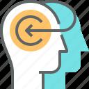 brain, human, mind, person, teaching, thinking icon