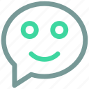 bubble, emotion, smyle, ⦁ chat, ⦁ message icon icon