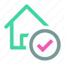 check, ⦁ home, ⦁ house, ⦁ select icon icon