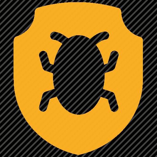 bug, ⦁ protect, ⦁ protection, ⦁ safety, ⦁ shieldicon icon