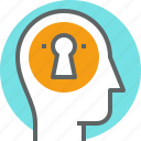 head, human, mind, people, secrets icon
