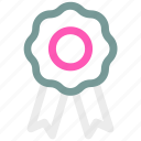 award, ⦁ badge, ⦁ ribbon, ⦁ win icon icon