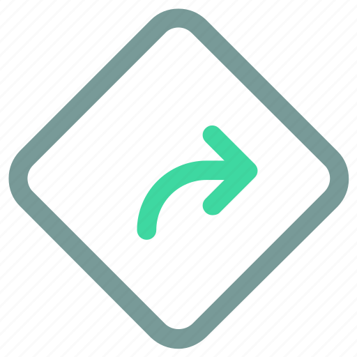 Label, ⦁ sign, ⦁ turn right, ⦁ warning, ⦁ warning signicon icon - Download on Iconfinder