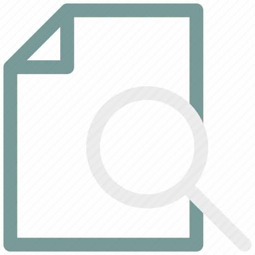 Document, ⦁ file, ⦁ note, ⦁ searchicon icon - Download on Iconfinder