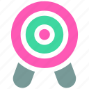objective, ⦁ precision, ⦁ statement, ⦁ target icon icon