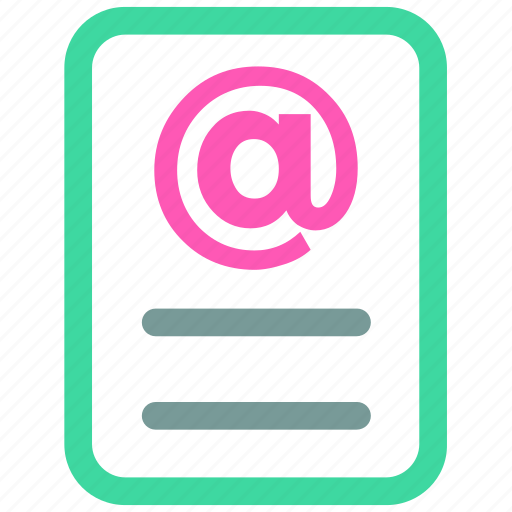 document, ⦁ email, ⦁ file, ⦁ letter, ⦁ mailicon icon