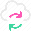 cloud, ⦁ sync, ⦁ synchronize, ⦁ update icon icon