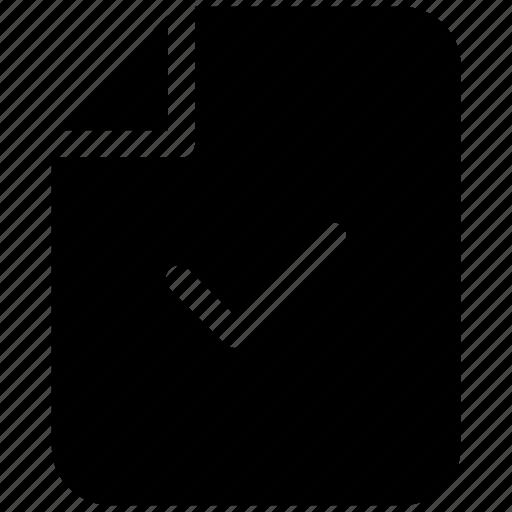 accept, ⦁ check, ⦁ document, ⦁ fileicon icon