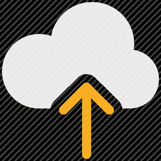 arrow, cloud, upload, uploading icon icon