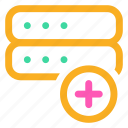 add, ⦁ new, ⦁ plus, ⦁ server icon icon