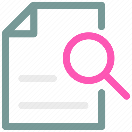 Document, ⦁ file, ⦁ searchicon icon - Download on Iconfinder