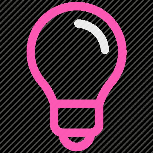 bulb, lamp, light, light bulb icon icon